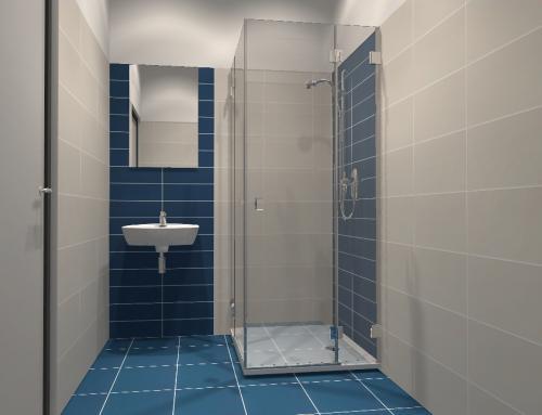 modrá kúpeľňa