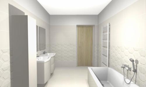kúpeľňa s 3D obkladom